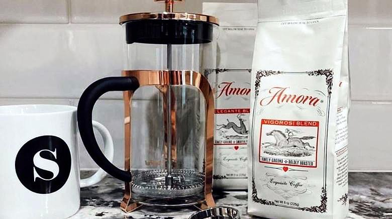 Organic tea and freshly roasted gourmet coffee, shipped to your door by Amora Coffee