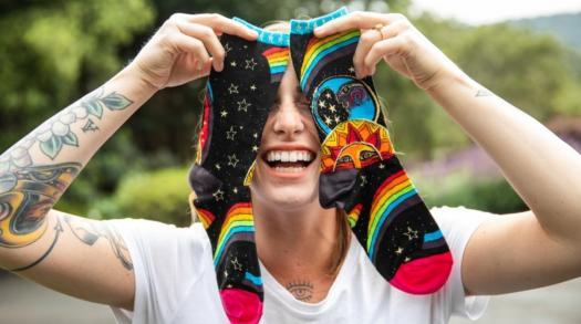 A fun pair of socks for everyone from The Sock Drawer based in San Luis Obispo CA