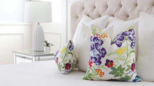 Chloe & Olive Pillow Shop handcrafts designer pillows and bedding in Sherman Oaks, CA