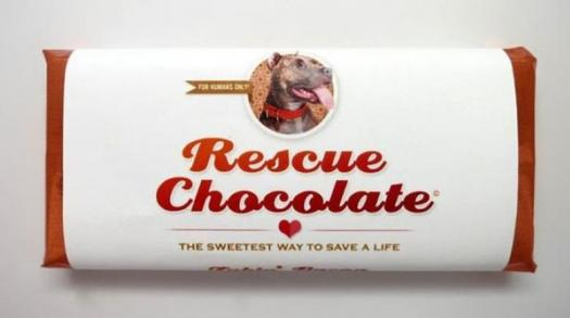 Satisfy your dark chocolate addiction and save a life with RESCUE CHOCOLATE!